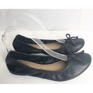 Kenneth Cole leather ballet flats 8.5 black